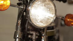 Motorcycle head lights Stock Footage