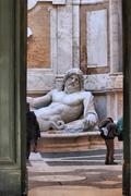 colossal statue marforio - stock photo