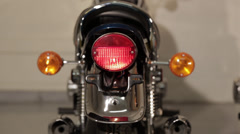 Motorcycle Tail light with blinker Stock Footage
