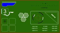 Animated HUD - Head-up-Display - green screen effect - stock footage