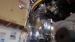 Kawasaki 900 Motorcycle Stock Footage