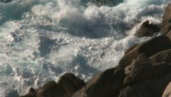 Power of nature breaking waves Stock Footage