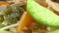 Dried Fruit 2 Stock Footage