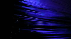Fiber optics strands - stock footage