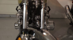 Classic Kawasaki 900 Front Forks Stock Footage
