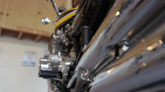 Kawasaki 900 dolly move from tail to engine Stock Footage