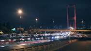 Stock Video Footage of Time lapse istanbul night traffic