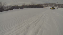 Rope pulling sledders up a hill. Stock Footage