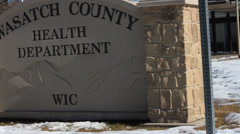 Walking Towards the Wasatch County Health Building. Stock Footage