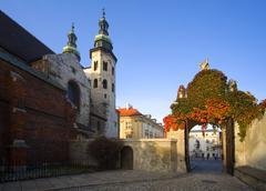 poland, krakow, st andrew's church - stock photo