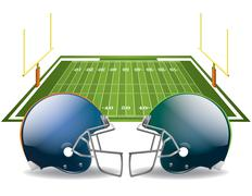 Stock Illustration of american football
