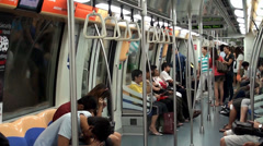 A trip to the subway train. Singapore. - stock footage