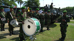 Indonesian Army Band Performs Stock Footage
