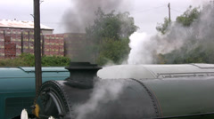 Steam engines among the diesels Stock Footage