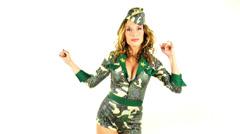 Sabina military30 Stock Footage