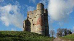 Dolly shot Donnington castle Stock Footage