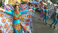 Stock Video Footage of spreading up wings of street dancers in butterfly costume
