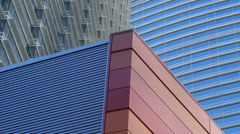Las vegas city center buildings abstract 7 Stock Footage