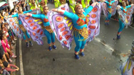 Stock Video Footage of swaying wings of street dancers in butterfly costume
