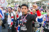 Stock Photo of thai people protest in bangkok