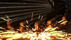 Welding with Spark Stock Footage