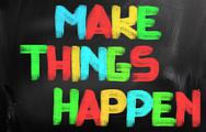 Stock Photo of make things happen concept