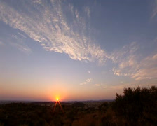 Northern Cape landscape during sunset Stock Footage