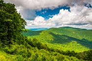 Stock Photo of view of the appalachian mountains from skyline drive in shenandoah national p