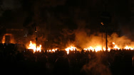 Stock Video Footage of Ukraine riot, fire wall