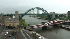 Tyne river at Newcastle, England,  UK Stock Footage
