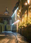 Poland, krakow, poselska street, st joseph church, christmas Stock Photos