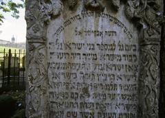 Vanhin hautaan vanha juutalainen hautausmaa, Kazimierz, Krakova, Puola Kuvituskuvat