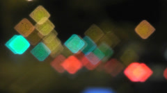 Abstract defocused POV drive though city traffic - stock footage