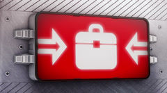 Briefcase. Looping. Stock Footage