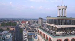 AERIAL: Above the old city Stock Footage