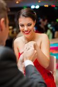 Romantic proposal Stock Photos