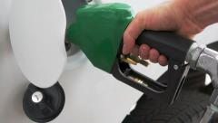 Pumping Gasoline at the Pump - stock footage