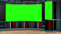 Virtual News Studio Green Screen Background - stock footage