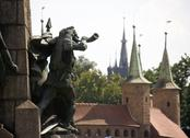 Stock Photo of poland krakow, monument commemorating the battle of grunwald, 15 july 1410