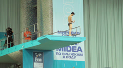 FINA/Midea Diving World Series Stock Footage
