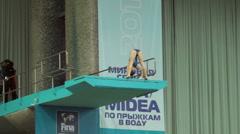 FINA/Midea Diving World Series Stock Footage