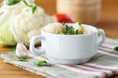 cauliflower soup - stock photo