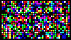 Colorfull pixels - stock footage