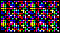 Colorfull dots - stock footage