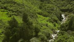 Ulba waterfall near Banos in Ecuadorian Andes Stock Footage