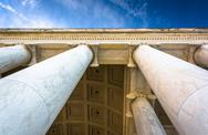 Stock Photo of looking up at columns at the thomas jefferson memorial, washington, dc.