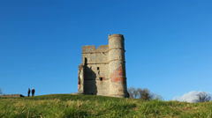 Magnificent Castle, dolly down hill Stock Footage