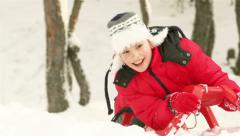 Winter Childhood - stock footage