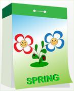 Stock Illustration of wall tear-off calendar, spring