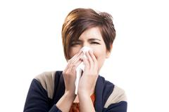 sick woman - stock photo
